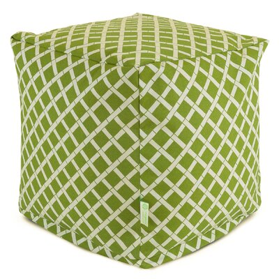 Ayer Small Cube Ottoman Fabric: Sage