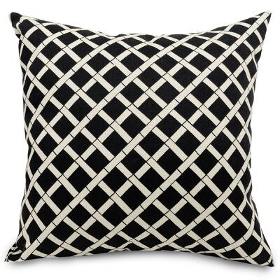 Bamboo Rayon Indoor/Outdoor Throw Pillow Fabric: Black, Size: 24
