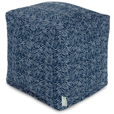 Navajo Small Ottoman Fabric: Navy
