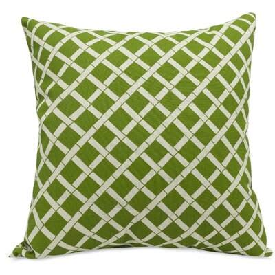 Ayer Pattern Indoor/Outdoor Throw Pillow Fabric: Sage, Size: 20 H x 20 W x 8 D