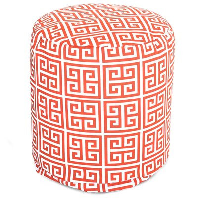 Towers Small Pouf Fabric: Orange