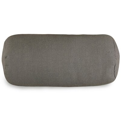 Wales Bolster Pillow Color: Gray