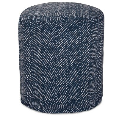 Navajo Small Pouf Ottoman Fabric: Navy