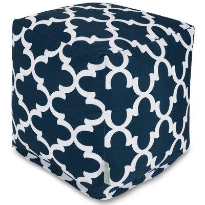 Cashwell Cube Pouf Ottoman Fabric: Navy