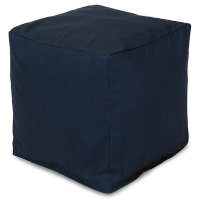 Wilda Small Cube Ottoman Fabric: Navy Blue