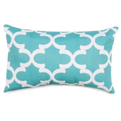 Trellis Indoor/Outdoor Lumbar Pillow Fabric: Teal