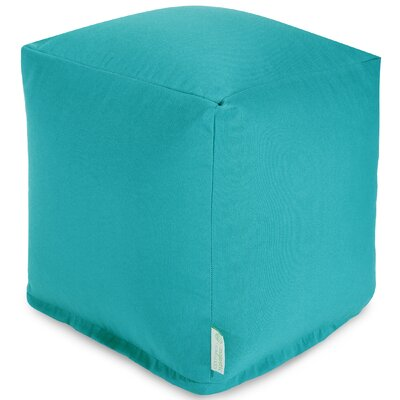 Wilda Small Cube Ottoman Fabric: Teal