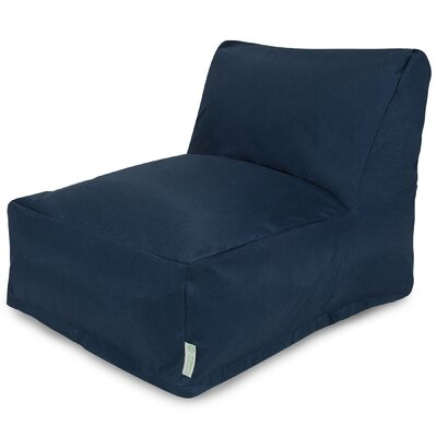 Bean Bag Lounger Upholstery: Navy Blue