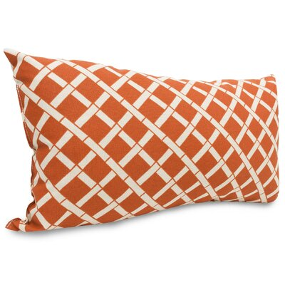 Ayer Pattern Indoor/Outdoor Lumbar Pillow Fabric: Burnt Orange