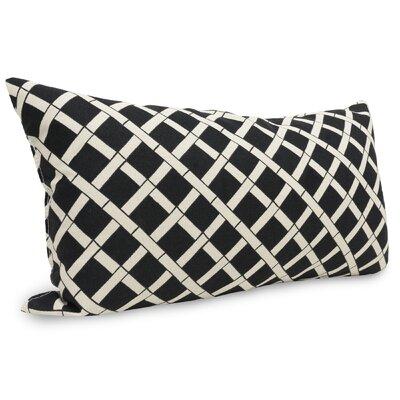 Ayer Pattern Indoor/Outdoor Lumbar Pillow Fabric: Black
