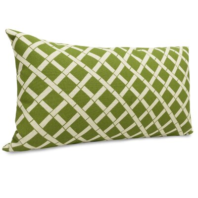 Ayer Pattern Indoor/Outdoor Lumbar Pillow Fabric: Sage