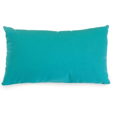 Indoor/Outdoor Lumbar Pillow Fabric: Teal