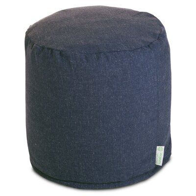 Christy Small Pouf Upholstery: Navy