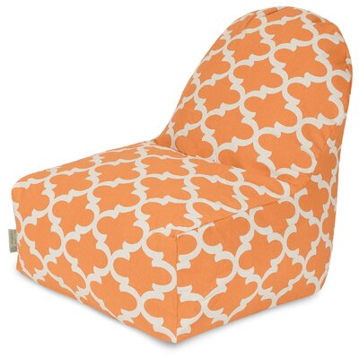 Cashwell Geometric Bean Bag Lounger Upholstery: Peach