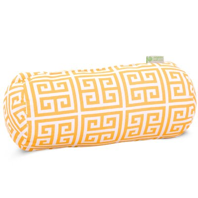 Towers Round Bolster Pillow Color: Citrus