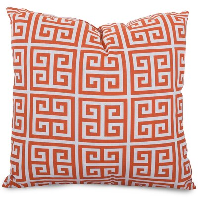 Towers Indoor/Outdoor Throw Pillow Fabric: Orange, Size: Large