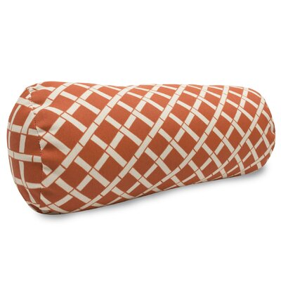 Ayer Pattern Round Bolster Pillow Color: Burnt Orange