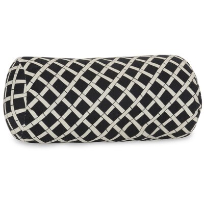 Ayer Pattern Round Bolster Pillow Color: Black