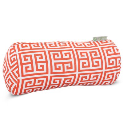 Towers Round Bolster Pillow Color: Orange
