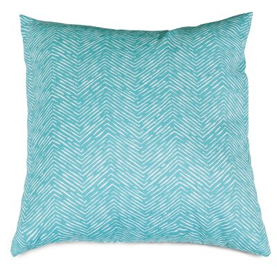 Navajo Indoor/Outdoor Throw Pillow Fabric: Teal, Size: 20 H x 20 W x 8 D