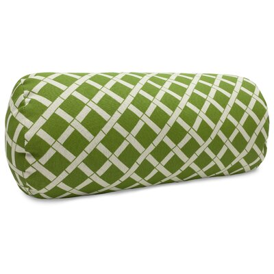 Ayer Pattern Round Bolster Pillow Color: Sage