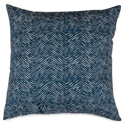 Navajo Indoor/Outdoor Throw Pillow Size: 20 H x 20 W x 8 D, Fabric: Navy