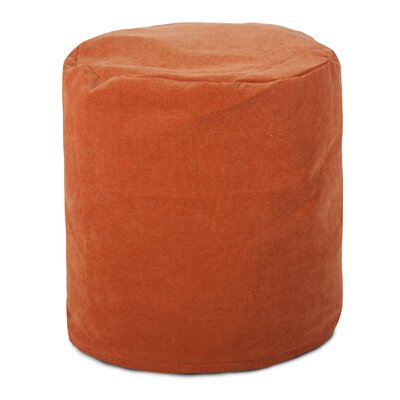 Villa Small Pouf Upholstery: Orange