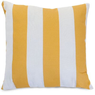 Majestic Home Goods Vertical Stripe Indoor/Outdoor Throw Pillow - Fabric: Yellow, Size: Extra Large