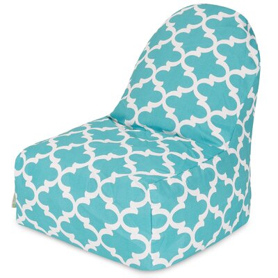 Cashwell Geometric Bean Bag Lounger Upholstery: Teal