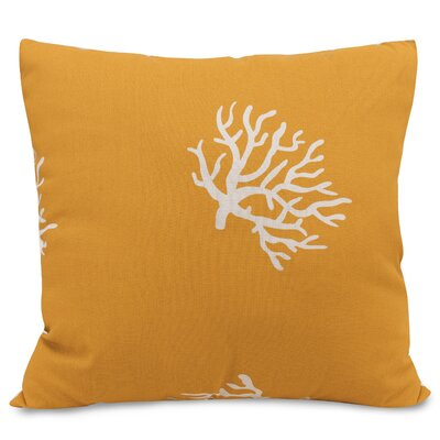 Coral Extra Throw Pillow Fabric: Yellow