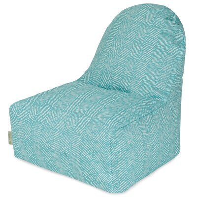 Geometric Bean Bag Lounger Upholstery: Teal