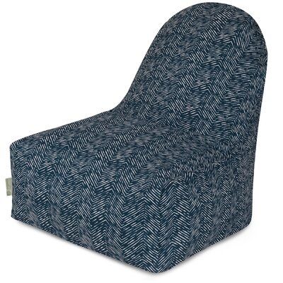 Geometric Bean Bag Lounger Upholstery: Navy