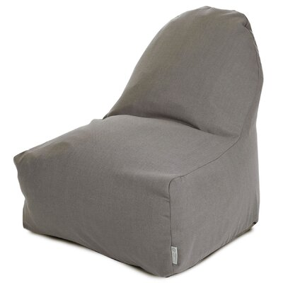 Cotton Bean Bag Lounger Upholstery: Gray