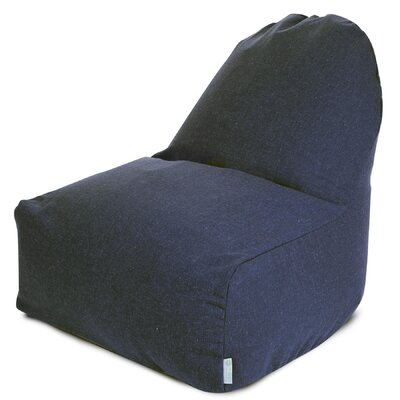 Cotton Bean Bag Lounger Upholstery: Navy