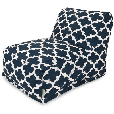 Cashwell Bean Bag Lounger Upholstery: Navy