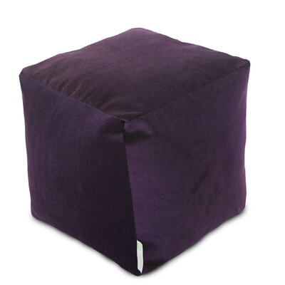 Sosebee Small Beanbag Cube Ottoman Upholstery: Aubergine