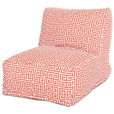 Towers Bean Bag Lounger Upholstery: Orange