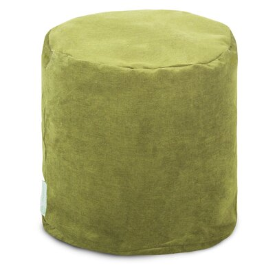 Villa Small Pouf Upholstery: Apple - Green