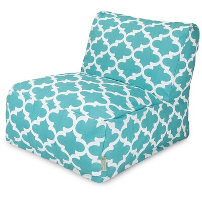 Trellis Bean Bag Lounger Upholstery: Teal