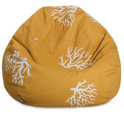 Coral Bean Bag Chair Upholstery: Yellow Coral