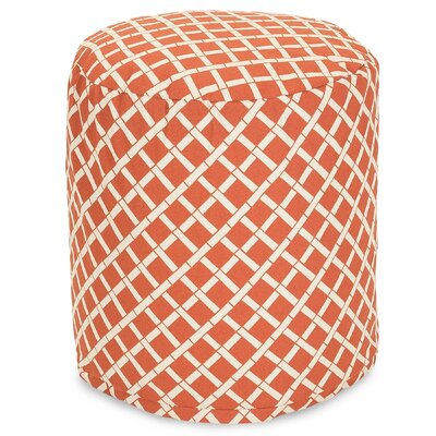 Bamboo Small Pouf Fabric: Burnt Orange