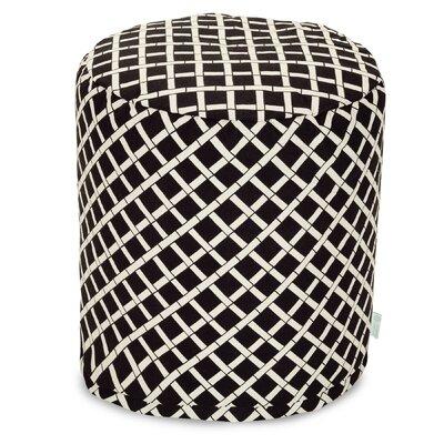 Ayer Small Pouf Fabric: Black