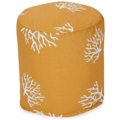 Coral Small Pouf Fabric: Yellow