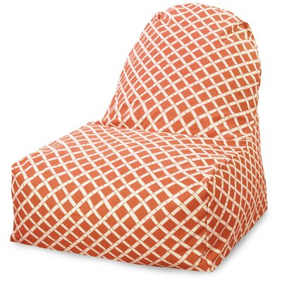 Ayer Geometric Pattern Bean Bag Lounger Upholstery: Burnt Orange