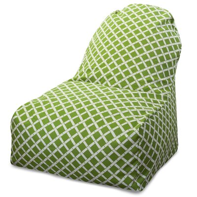 Ayer Geometric Pattern Bean Bag Lounger Upholstery: Sage
