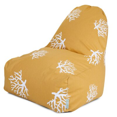 Coral Bean Bag Lounger Upholstery: Yellow