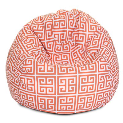 Towers Bean Bag Chair Upholstery: Orange