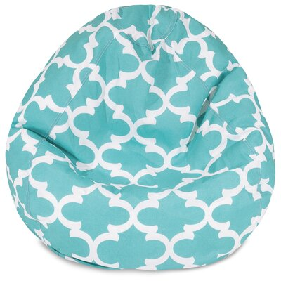 Cashwell Bean Bag Chair Upholstery: Teal
