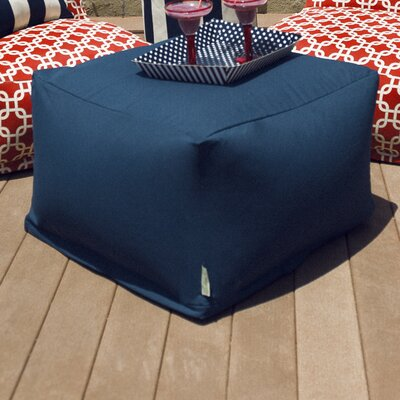 Wilda Large Ottoman Fabric: Navy Blue