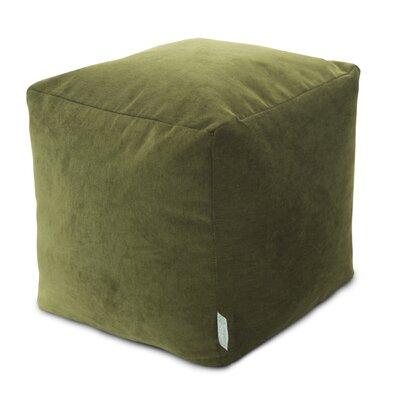 Sosebee Small Beanbag Cube Ottoman Upholstery: Fern